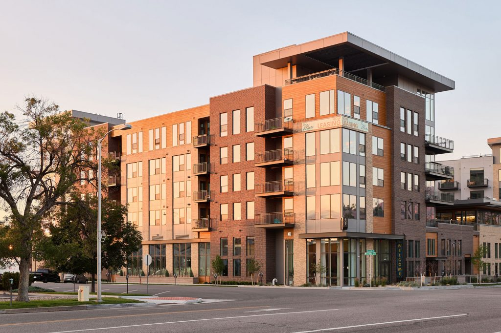 6-story Mae on Cascade apartment building in downtown Colorado Springs